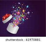 open explore gift with fly...   Shutterstock .eps vector #61970881