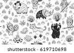 ink seamless pattern with...   Shutterstock .eps vector #619710698