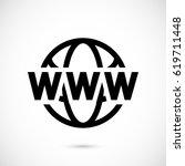 web icon stock vector... | Shutterstock .eps vector #619711448