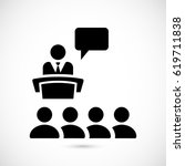 class group of individuals... | Shutterstock .eps vector #619711838