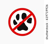 no pets icon allowed vector sign | Shutterstock .eps vector #619719926