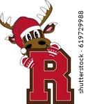 r is for reindeer alphabet... | Shutterstock .eps vector #619729988