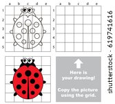 copy the picture using grid... | Shutterstock .eps vector #619741616
