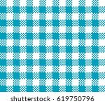 blue seamless table cloth with...