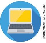 laptop vector icon   Shutterstock .eps vector #619759382