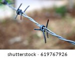 Barbed Wire Bonded To The...
