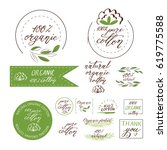 natural organic cotton  pure... | Shutterstock .eps vector #619775588