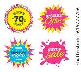 sale splash banner  special... | Shutterstock .eps vector #619777706