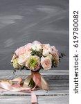 bridal bouquet. wedding.... | Shutterstock . vector #619780082