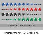 falling gambling chips in... | Shutterstock .eps vector #619781126