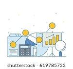 illustration of flat icon... | Shutterstock .eps vector #619785722