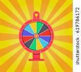 wheel of fortune  background.... | Shutterstock .eps vector #619786172