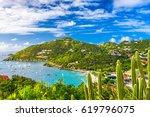gustavia  saint barthelemy...   Shutterstock . vector #619796075
