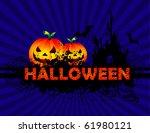 halloween background | Shutterstock .eps vector #61980121