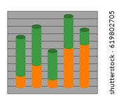 graph with cylindrical columns. ... | Shutterstock .eps vector #619802705