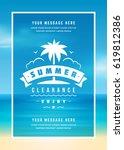 summer sale banner online... | Shutterstock .eps vector #619812386