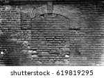 Gray Brick Lined Window In Old...