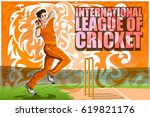 concept of sportsman playing... | Shutterstock .eps vector #619821176