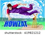 concept of sportsman playing...   Shutterstock .eps vector #619821212