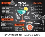 restaurant cafe menu | Shutterstock .eps vector #619831298