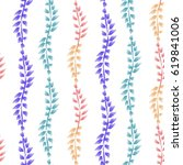 decorative seamless pattern... | Shutterstock . vector #619841006
