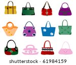 fashion bags | Shutterstock .eps vector #61984159