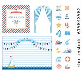 event elements marine nautical... | Shutterstock .eps vector #619843982