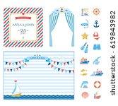 event elements marine nautical... | Shutterstock .eps vector #619843982