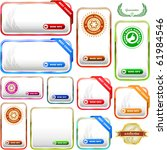 vector banner set for sale | Shutterstock .eps vector #61984546