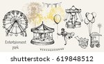 vector sketch illustration.... | Shutterstock .eps vector #619848512