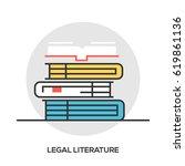 book line icon  outline vector... | Shutterstock .eps vector #619861136