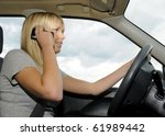 woman with mobile phone in the... | Shutterstock . vector #61989442