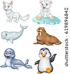 cartoon arctic animals...
