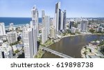 aerial view of surfers paradise ... | Shutterstock . vector #619898738