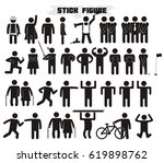 collection of flat figures... | Shutterstock .eps vector #619898762