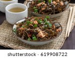 sea cabbage salad with tofu in... | Shutterstock . vector #619908722