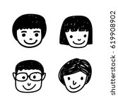 doodle people icon | Shutterstock .eps vector #619908902