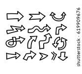 hand drawn arrow   Shutterstock .eps vector #619909676