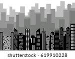 black random city skyline... | Shutterstock .eps vector #619910228