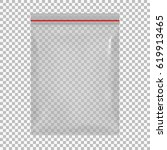 blank flat poly clear bag... | Shutterstock .eps vector #619913465