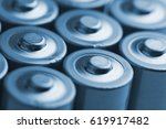 low angle blue close up of... | Shutterstock . vector #619917482