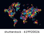 decorative world map modern... | Shutterstock .eps vector #619920026
