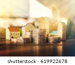 mortgage concept by money house ... | Shutterstock . vector #619922678