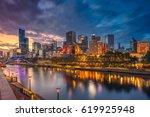 city of melbourne. cityscape...   Shutterstock . vector #619925948