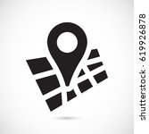 map pointer flat icon  vector... | Shutterstock .eps vector #619926878