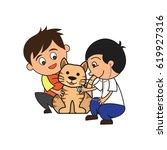 animal care concept  love ...   Shutterstock .eps vector #619927316