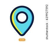 location vector icon  | Shutterstock .eps vector #619927592