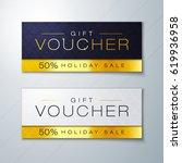 vector illustration  gift... | Shutterstock .eps vector #619936958