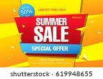 summer sale template banner | Shutterstock .eps vector #619948655