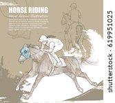 hand drawn illustration of... | Shutterstock .eps vector #619951025